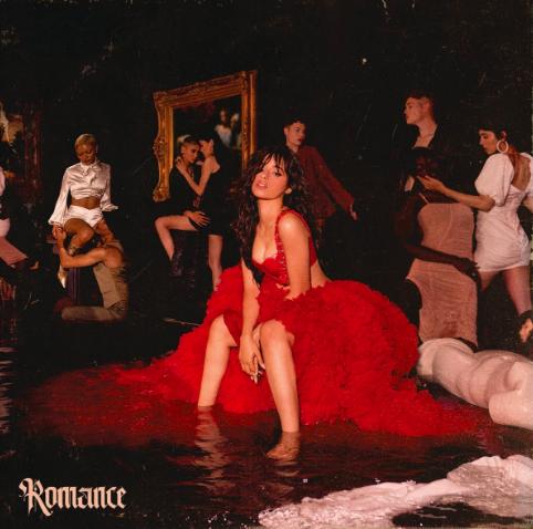 Albumcover van Romance van Camila Cabello voor review
