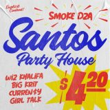 Smoke DZA, Wiz Khalifa, Curren$y, Big K.R.I.T. & Girl Talk – Santos Party House